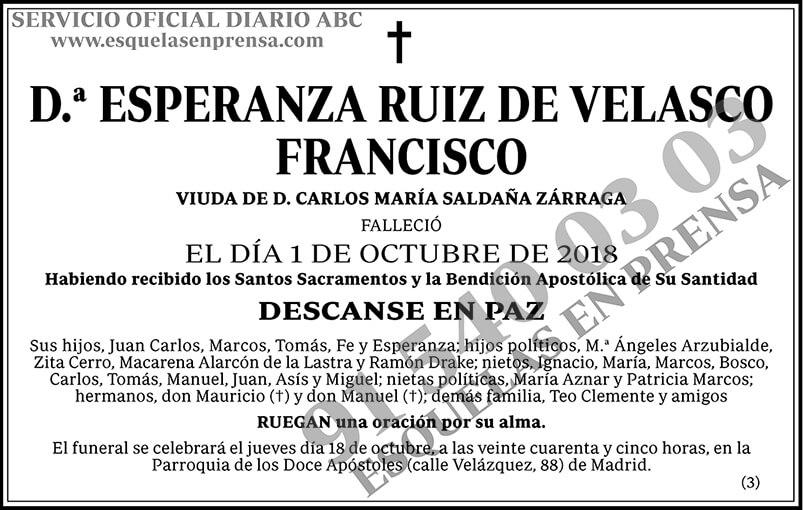 Esperanza Ruiz de Velasco Francisco